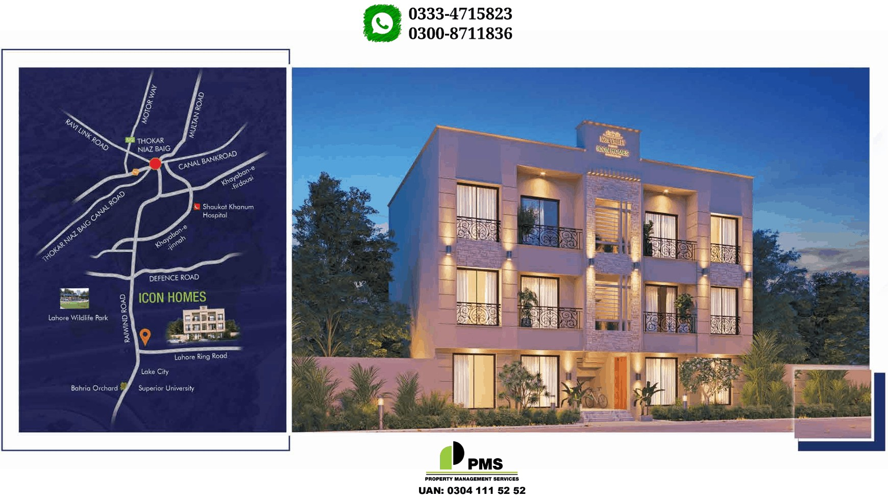 Icon Homes at Lahore 5 Marla 2 Bedroom Flat For Sale