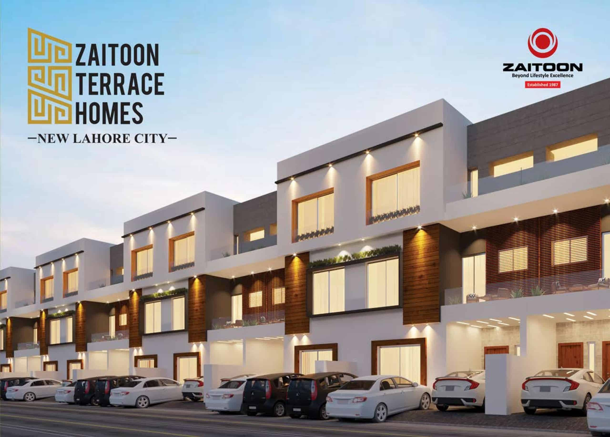 Low Price Homes in Lahore LDA Approved Society | Zaitoon Terrace Homes | New Lahore City