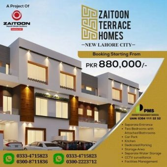 ZAITOON TERRACE HOMES – NEW LAHORE CITY